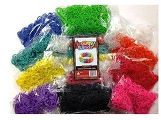 Loomy Bands 6600-Piece Rainbow Colored Loom Band, 22 Colors with Fidget Spinner