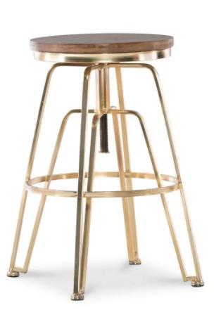 Aimes Wood and Metal Adjustable Stool Retail:$107.99