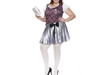 Playboy Collegiate Cutie Costume, Multi, 2X