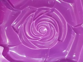 Set of 4 Purple New Home Silicone Rose Cake Pans