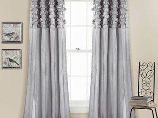 Circle Dream Window Curtain Panels Light Gray 54x63