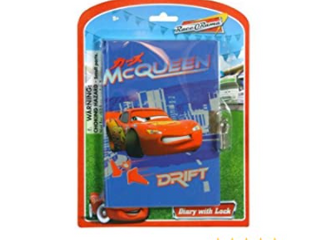 2-Race Orama Cars 50 Sheets Diary With Lock On Blister Card, New,
