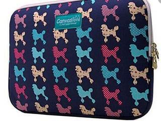 Canvaslove laptop Sleeve Poodle Print