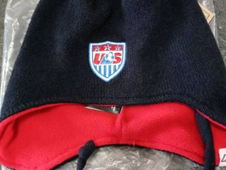World Cup Soccer United States little Monster Knit Hat  Toddler  Navy