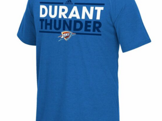 Nba Oklahoma City Thunder Kevin Durant 35 Men s Short Sleeve Tee  X large  Blue