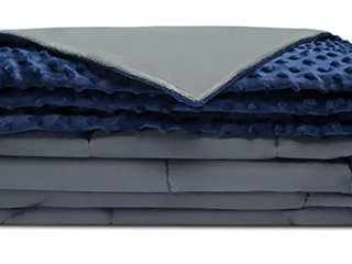 Quility Weighted Blanket   Blue Grey 78in x 64in