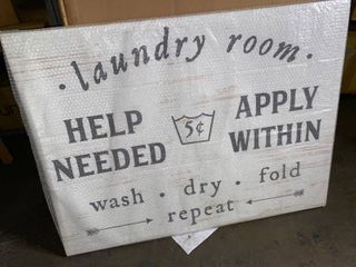 Wall Art Canvas WASH DRY lAUNDRY 40in 1 4 x 30in 1 4