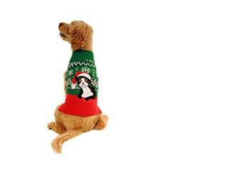 Alex Stevens Fairisle Sad Cat Mock Turtleneck Sweater for Dogs, Large