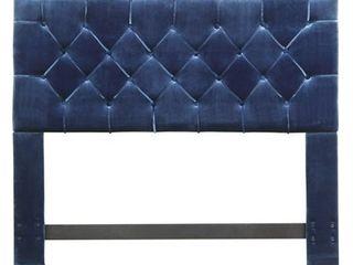 Queen Size Chic Home Emer Velvet Upholstered Headboard