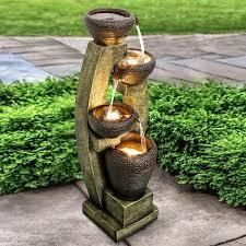 4 Crocks Outdoor Garden Fountain with Contemporary Design for Garden  Retail 233 49