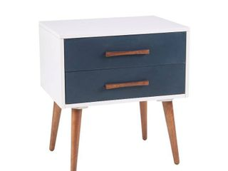 INK IVY Jeremy Storage Nightstand in White Finish Retail   359