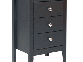 Adeptus Solid Wood Easy Pieces 3 Drawer End Table Nightstand