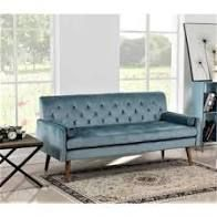 Johnson Tufted Velvet Sofa  Retail 438 49