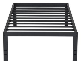 Sleeplanner 18 Inch Tall Heavy Duty Steel Slat Bed Frame  Twin  Retail 157 99