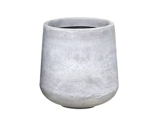 Kante Modern lightweight Footed Tulip Outdoor Round Planter  large  17 3 Inch Tall  Natural Concrete