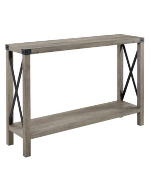 The Gray Barn 46 inch Kujawa X Frame Entry Table   Grey Wash  Retail  159 99