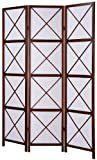 Roundhill 3 Panel Screen Room Divider  Walnut
