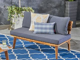 Balmoral Outdoor Acacia Wood loveseat by Christopher Knight Home  Retail 285 49