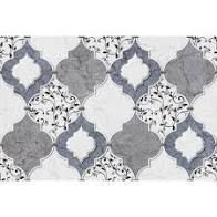 Grey Moroccan Tile Removable Wallpaper   10 ft H x 24 inch W