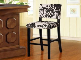 lemont Black Cow print Bar Stool  Retail 114 99