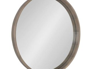 Hutton Round Decorative Wood framed Wall Mirror  Retail 209 49