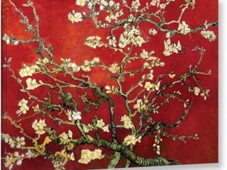 Vincent van Gogh  Red Blossoming Almond Tree  Canvas