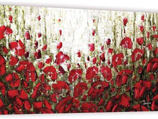 ArtWall Susanna Shaposhnikova s Olive Red Poppies  Gallery Wrapped Canvas  Retail 99 49