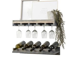 Handmade Del Hutson Designs Rustic luxe Wine Bottle and Stemware Set
