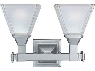 Maxim Nickel 2 light Brentwood Bath Vanity light  Retail 79 98