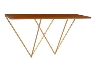 Kate and laurel Melita Floating Wall Shelf Console Table   32 inches  Retail 133 99