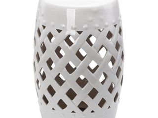 Outsunny Ceramic Indoor Outdoor lattice Garden Stool