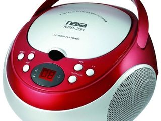 Naxa NPB251 Portable Cd Player With Am fm Radio   Red