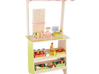 Kids Fresh Market Selling Stand  Wooden Playset by Hey  Play  Retail 78 98