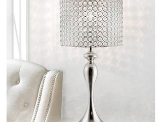 Silver Orchid Burkett 26 5 inch Polished Nickel Table lamp  Retail 91 49