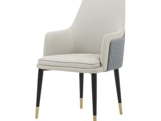 Modrest Duval Modern White   Grey Dining Chair  Retail 339 99