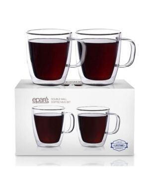 Epare Insulated Coffee Cups Set of 4   12oz Double Wall Tumbler Cups