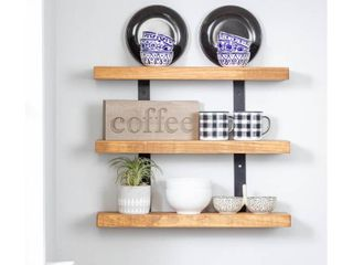 Del Hutson Designs Industrial Grace Three Tier Floating Shelves  Retail 83 99