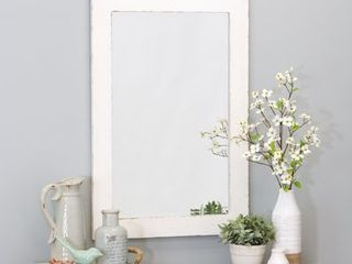 Morris Wall Mirror   White 36 x 24   36 h x 24 w x 1 d   Retail 85 99