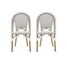 Elize Outdoor French Bistro Chair  Set of 2  by Christopher Knight Home  Retail 201 99