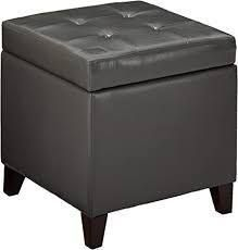 Adeco Bonded leather Square Storage Ottoman  Retail 99 99