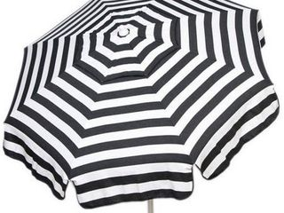 Italian Bistro 6 foot Acrylic Striped Patio Umbrella  Retail 121 49