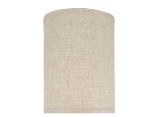 Aspen Creative Hardback Drum  Cylinder  Shape Spider Construction lamp Shade in Beige  8  x 8  x 11