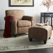 Copper Grove Bernsdorf Hand tied Paisley Arm Chair and Ottoman  Retail 552 49