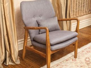 Haddie Mid Century Modern Fabric Club Chair by Christopher Knight Home  Retail 252 49