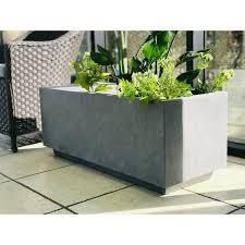 Ambai Natural lightweight Concrete Square Planter by Havenside Home  Retail 212 49