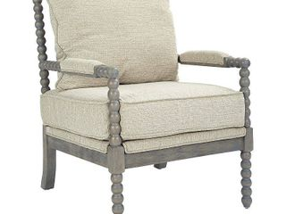 Ave Six Abbot Chair in linen Fabric with Brushed Grey Base
