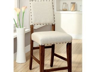 Furniture of America Tays Modern Brown Counter Height Chairs  Set of 2  Retail 258 99