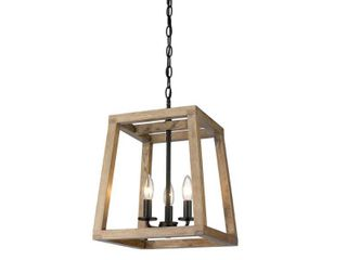 Rustic Farmhouse Geometric Wooden and Black lantern  Retail 132 99