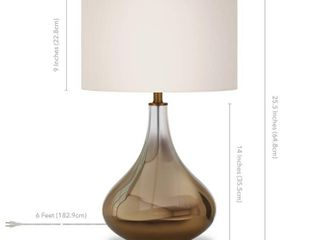 Miroir Table lamp in Golden Ombre Colored Glass with linen Shade  Retail 81 48