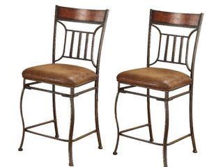 Tavio Saddle Brown Counter Height Chair  Set of 2  Retail 158 49